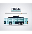 Isolated trolley vehicle design vector image vector image