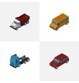 isometric automobile set of car truck freight vector image vector image