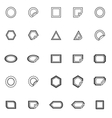 Label line icons on white background vector image vector image
