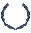 laurel wreath vintage wreath greek laurel vector image vector image