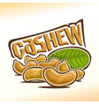 logo for cashew nuts vector image vector image