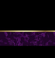 lovely purple marble background with gold vector image vector image