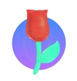 Lowpoly rose vector image