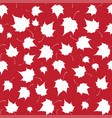 maple leaves seamless white red art vector image vector image