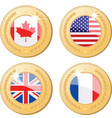 medals of the world vector image vector image