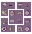 Modern flat icons collection shadow food vector image vector image