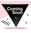 modern promotion square web banner coming soon vector image
