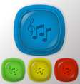 Musical notes and treble clef Symbol muzykiki Icon vector image