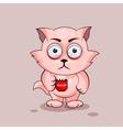 Nice cat nervous vector image vector image