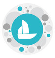 of mixed symbol on boat icon vector image