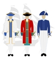 Officers of the Russian fleet vector image vector image