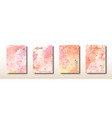 orange and pink watercolor hand painted collection vector image
