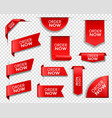 order now red banners bookmarks web elements vector image vector image