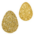 perfect gold handmade easter eggs isolated on a vector image