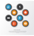 photo icons set collection of circle photography vector image