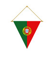portuguese triangle flag hanging vector image