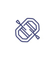 rafting line icon on white vector image vector image