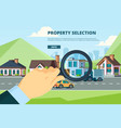 rent house searching new modern townhouse vector image