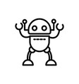 robot space technology character artificial vector image