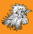 rooster fight head vector image vector image