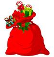 Santa s sack vector image vector image