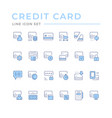 set color line icons credit card vector image vector image