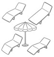 set of beach bed vector image vector image