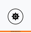 setting gear icon symbol for your website design vector image