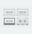 silhouettes compact cassettes or tapes vector image vector image