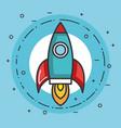 space rocket launch creative idea vector image