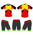 Sports cycling vest vector image vector image