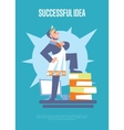 Successful idea banner with businessman vector image vector image