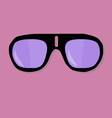 Sunglasses on pink background vector image