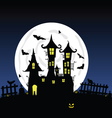 sweet and beauty castle with bats part four vector image vector image