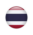thailand flag on button vector image