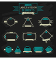 Thinline banner design elements vector image vector image