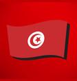 tunisian flag icon vector image