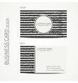 Vintage simple monochrome business card template vector image