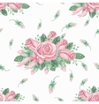 Watercolor pink roses group seamless patternbuds