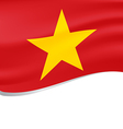 Waving flag of Vietnam isolated on white vector image