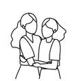 young women cartoon vector image