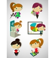 Cartoon girls vector image