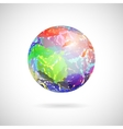 abstract ball of colored spots vector image vector image