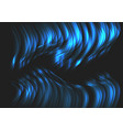 abstract blue wave curve 3d light on black vector image