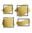 abstract golden paint brush stroke hand draw vector image