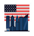 american city new york flag vector image vector image