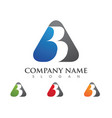 b letter logo template vector image vector image