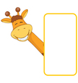 baby animal banner giraffe cartoon label vector image vector image