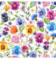 beautiful seamless floral pattern with vector image