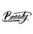 beauty lettering vector image